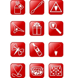Love Icons Set vector image vector image
