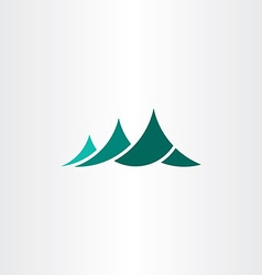 mountain symbol logo element sign vector image vector image