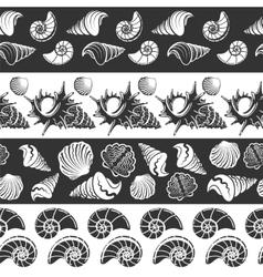 Sea seamless borders vector image