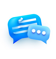 3d chat bubble talk dialogue messenger or vector image