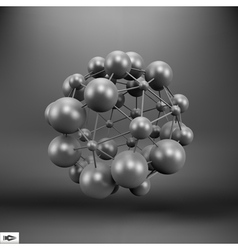 3D Molecule structure background vector