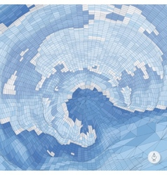 Abstract background with waves Mosaic 3d vector image