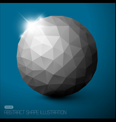 abstract sphere background vector image