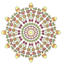 adult coloring book page spring easter mandala vector image