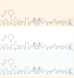 Albuquerque hand drawn skyline vector