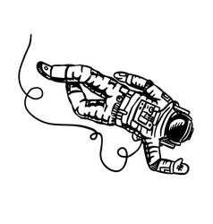 Astronaut flies in space spaceman explores vector