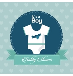 Baby Shower design cloth icon Blue vector image
