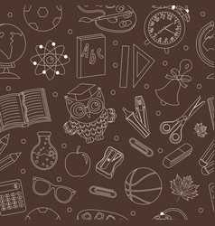 Back to school seamless pattern hand drawing vector