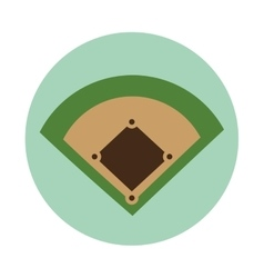 baseball camp diamond icon vector image