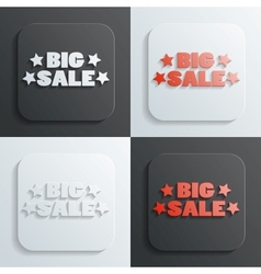 Big sale sign vector