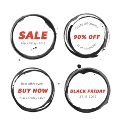 Black Friday badges set vector image