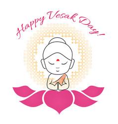 Buddha purnima or vesak day vector