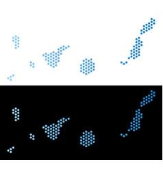 Canarian spain islands map hex-tile scheme vector