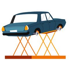 car maintenance service vehicle repairing center vector image