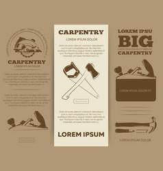carpentry tools brochure vector image