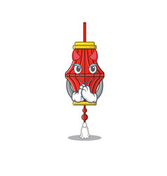 Cartoon character chinese paper lanterns on a vector