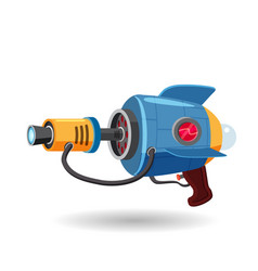cartoon retro space blaster ray gun laser weapon vector image
