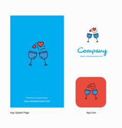 cheers company logo app icon and splash page vector image