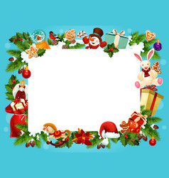Christmas holiday frame for greeting card design vector