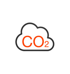 co2 icon cloud carbon dioxide emissions vector image