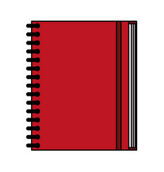 Color image notebook spiral closed vector