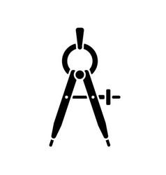 Compass black glyph icon vector