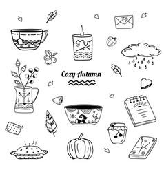 cozy autumn collection vector image