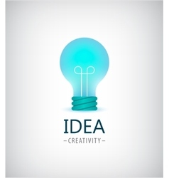 creative idea light bulb logo vector image