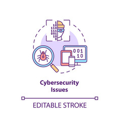 Cybersecurity issue concept icon vector