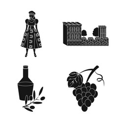 Design and country icon collection of vector