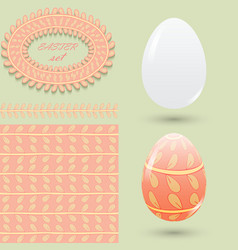 easter set clean and colored eggs seamless vector image