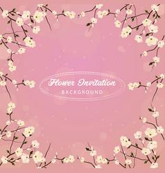 Flower invitation background vector
