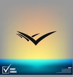 Flying birds icon vector