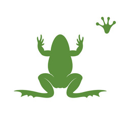 Frog silhouette abstract frog on white vector