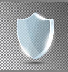 Glass shield blue acrylic security shield vector