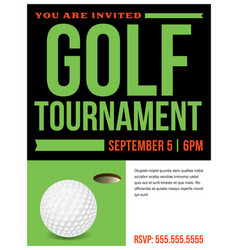 golf tournament flyer invitation vector image