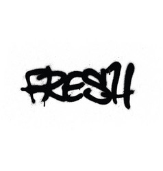 Graffiti tag fresh sprayed with leak in black vector