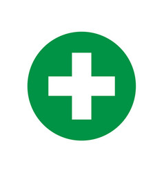 green cross isolated medical or pharmacy icon vector image