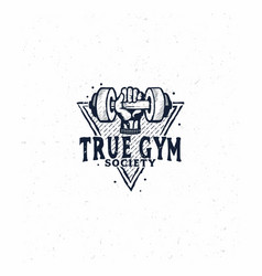 gym logo fitness logo vector image