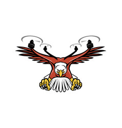 Half eagle half drone swooping mascot vector