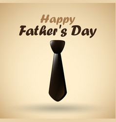 happy fathers day with tie vector image