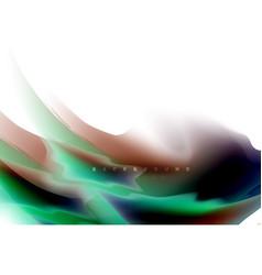 holographic fluid colors flow colorful liquid vector image