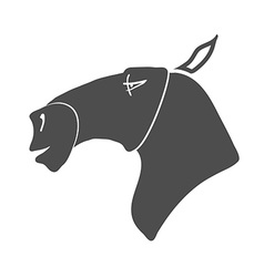 Horse head icon vector
