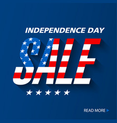 Independence day sale banner design vector