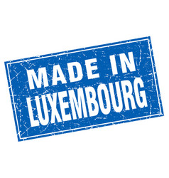 Luxembourg blue square grunge made in stamp vector