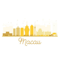 Macau city skyline golden silhouette vector