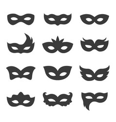 masquerade and carnival mask icon set vector image