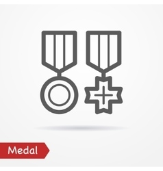 Medal silhouette icon vector image