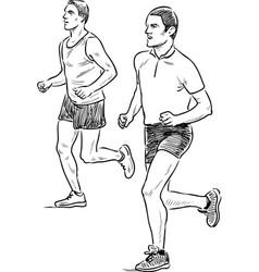 Men jogging vector