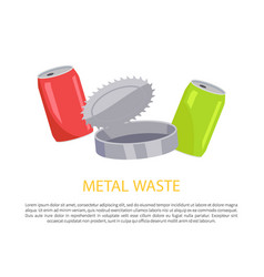 metal waste poster and text vector image